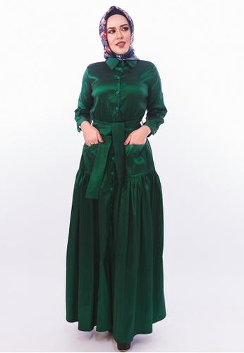 Persian green Thai Silk Trench Coat - Emerald Green B7B7DAAF36631EGS_1