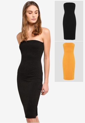 304536180 Shop ZALORA BASICS 2 pack Basic Bandeau Knee Length Dress Online on ZALORA  Philippines
