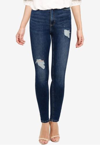 Miss Selfridge blue Dark Denim Lizzie Jeans 855A0AACA62615GS_1