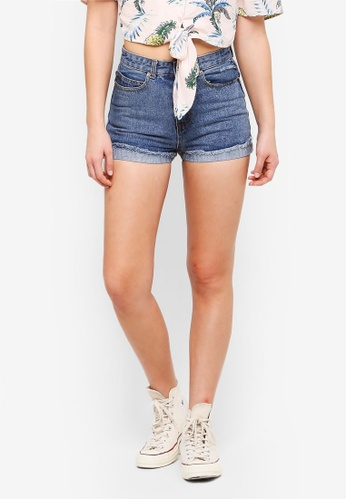 Something Borrowed blue Turn Up Denim Shorts 0F742AA5EBAE55GS_1