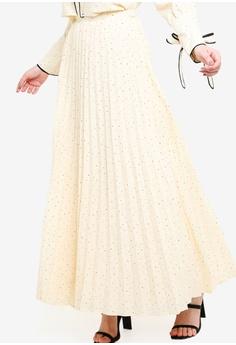 c59135ee78c53 Zalia beige Pleated Skirt 10EB3AAC20F593GS 1