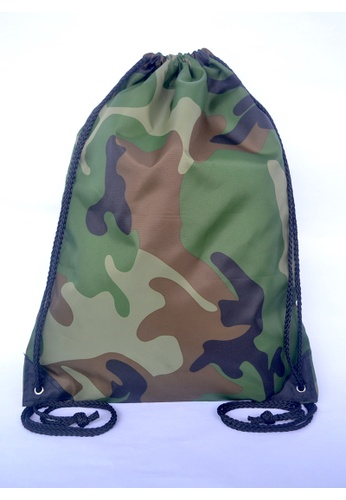 Buy The Twinees Camo Waterproof Drawstring Bag | ZALORA Singapore