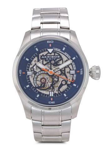 Akribos XXIV silver Automatic Skeleton Watch 08146ACBEEE897GS_1