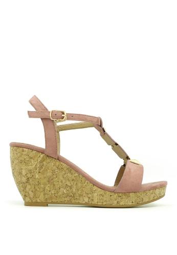 "Carlo Rino pink Carlo Rino 33300-A007-24 3""Peep Toe Wedges Platfrom (Pink) 42FE1SHE6DC049GS_1"
