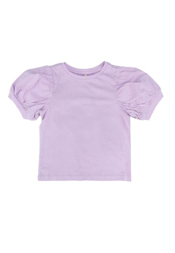 ONLY purple Novie Puffed Sleeves Top F749CKA14D07C4GS_1