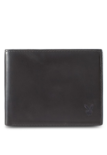Playboy grey Playboy Genuine Leather Wallet F05A0AC94A2C1CGS_1