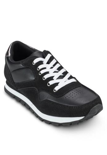 Hogan 異材質拼接繫帶運動鞋, zalora 內衣女鞋, 鞋