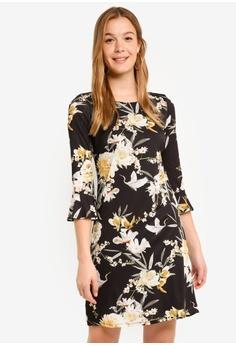 6594ede6437204 Wallis black Black Bird Print Tunic Dress AD2EAAAA16D0DFGS 1