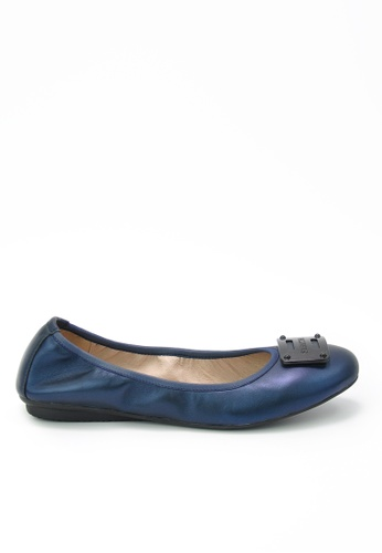 Twenty Eight Shoes blue Massage Metallic Leather Flats JD155 197A6SH2BB5299GS_1