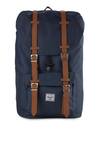 jual herschel little america backpack original | zalora indonesia ®