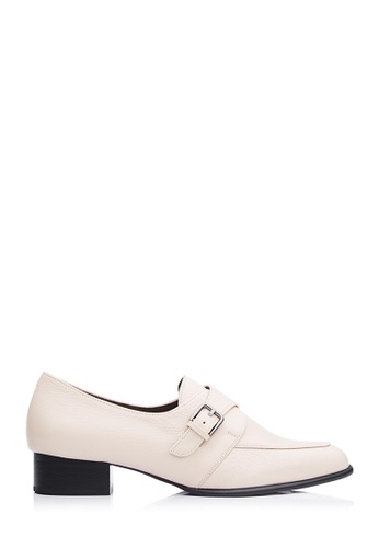 BONIA beige Women Medium Beige Pin Buckle Loafers B88B3SHE0E77D4GS_1