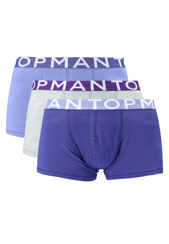 Topman multi Assorted Colour Trunks 3 Pack EBF7AUS5EED09BGS_1