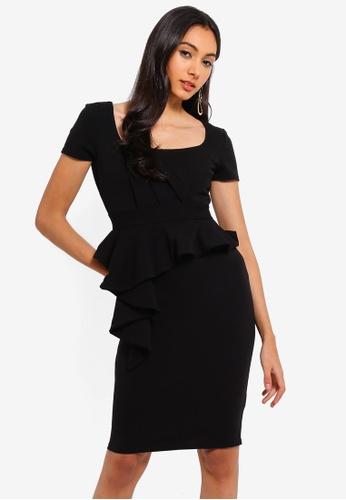 Goddiva 黑色 方領洋裝 432BCAAF7E3FF3GS_1