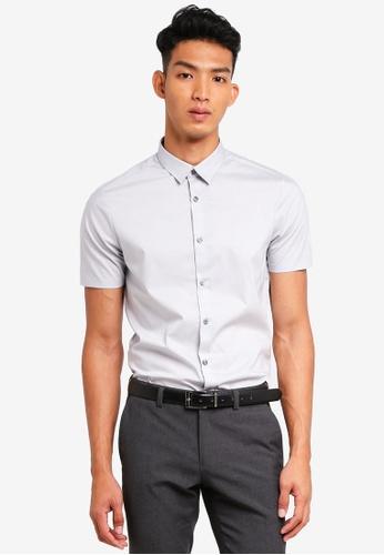 Burton Menswear London 灰色 休閒短袖襯衫 165F9AAB951581GS_1