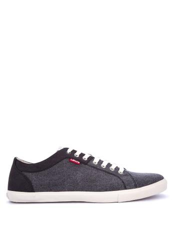 Levi's black Woods Canvas Microfiber Sneakers F09B2SH522A7E6GS_1