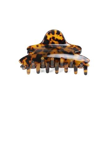 Glamorousky silver Simple Vintage Dark Leopard Print Hair Claw AF231AC5A6323FGS_1