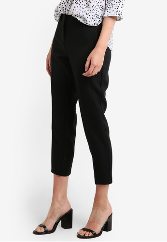 Dorothy Perkins black Rivet Slim Pique Trousers DO816AA0RCHSMY_1