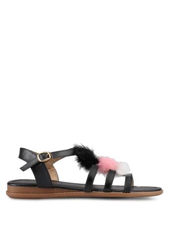 Mimosa black Pom Pom Sandals 94E69SHB34EC97GS_1