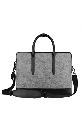 All Things New Grey Cartinoe 15 Wool Felt Messenger Laptop Bag 8f28eac6731d9ags 1