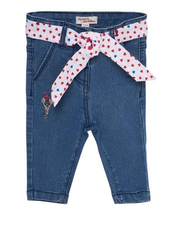 Du Pareil Au Même (DPAM) navy Belted Jeans 8A224KAEE03D8DGS_1