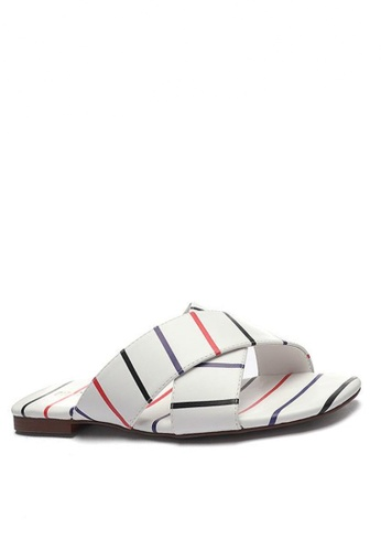 Twenty Eight Shoes Stripped Flat Sandals 101-8 C3F57SH79D0475GS_1