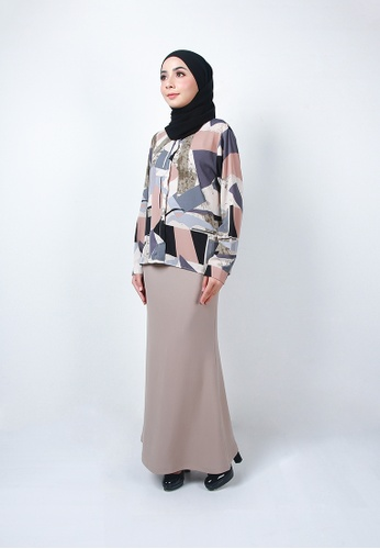 Ladies Jeans grey Modest Office Long Skirt C2B64AA2939F35GS_1