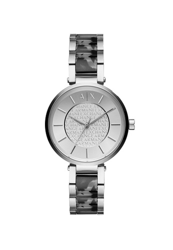 Armani Exchange silver Olivia Silver Acetate & Stainless Steel Watch AX5319 EA934AC56DC76DGS_1