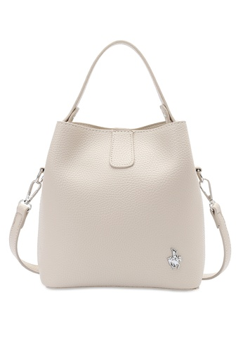 Swiss Polo beige Top Handle Sling Bag ECDABACC474DF9GS_1