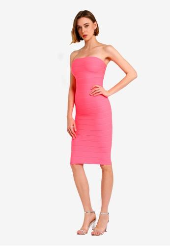 e475cc505b53f Shop MISSGUIDED Bandeau Bandage Midi Dress Online on ZALORA Philippines
