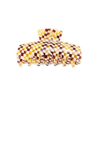 Glamorousky multi Fashion High-end Lattice Pattern Geometric Hair Claw A8546AC85A1BF1GS_1