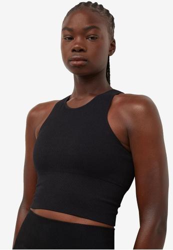 H&M black Seamless Sports Bralette D6E5DUS1ACC03EGS_1