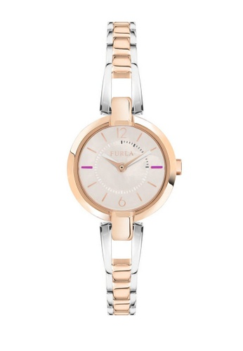 Furla silver Linda Quartz Watch R4253106502 Silver and Rose Gold Metal Strap E3F14AC91AD5DDGS_1