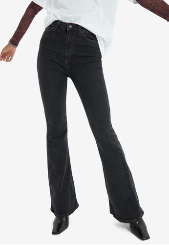 Trendyol black High Waist Flare Jeans 5977FAA710C63BGS_1