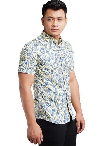 UA BOUTIQUE yellow Short Sleeve Shirt Batik SSB119-091 (Yellow) E5C52AAF9D97EBGS_1