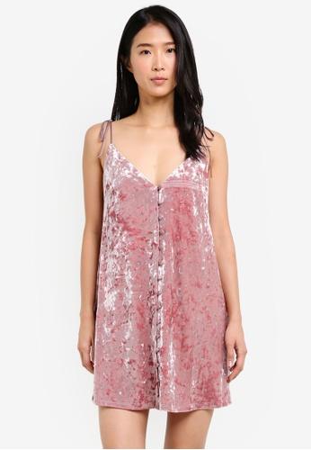 TOPSHOP pink Star Glitter Slip Dress TO412AA0SD6NMY_1