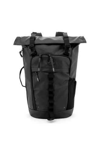 MORAL black Nighthawks Roll Top Backpack - Matt Black 35362AC13EF977GS_1