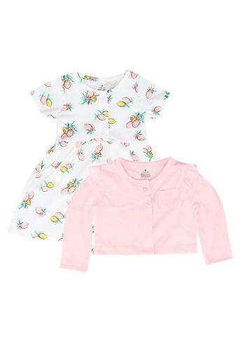 Milliot & Co. pink Ashley Girls' Dress With Cardigan 4807FKA39C97E5GS_1