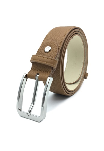 Goldlion brown Premium Casual Pin Belt with Angular Buckle-A 6F92AAC6C1CD3CGS_1