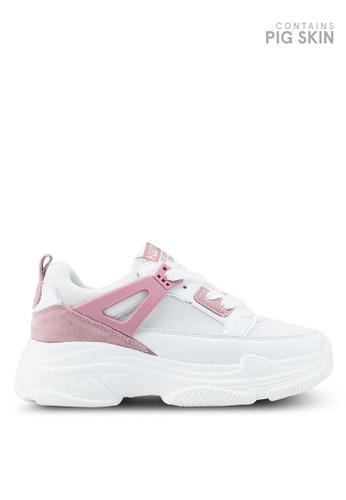 Twenty Eight Shoes 粉紅色 時尚拼接運動鞋 54C25SHEBCEF77GS_1