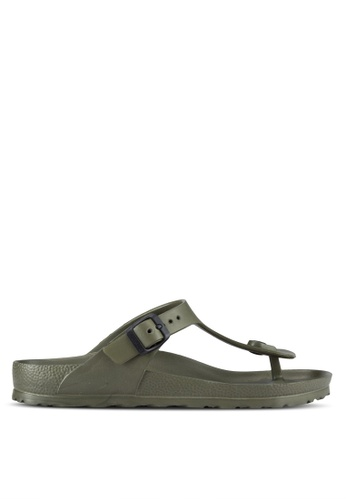 Birkenstock green Gizeh EVA Sandals BI090SH98JPHMY_1
