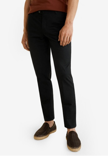 MANGO Man 黑色 Slim-Fit Chinos Trousers BF562AABCD916AGS_1