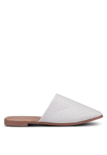 Rubi white Charlotte Soft Mule Slip Ons C1FCESH862B1D3GS_1
