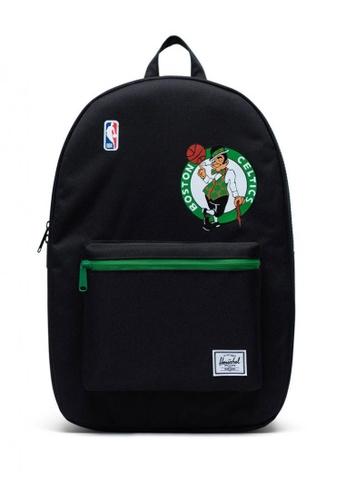 Herschel black Settlement NBA Superfan Boston Celtics Backpack 48B2CAC47F923CGS_1
