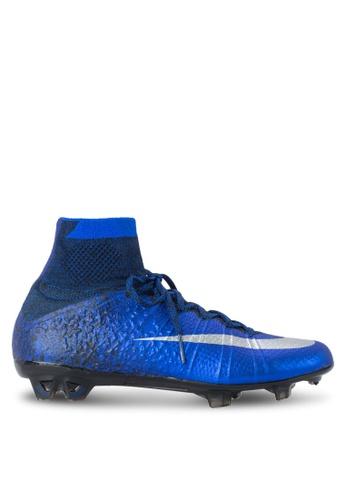 Nike blue and silver Nike Mercurial Superfly CR (FG) Shoes NI126SH44NLFSG_1