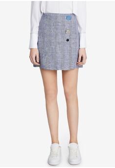 e14ffbb4be44 Hopeshow grey Checkered Short Skirt E6CCFAA3075474GS 1