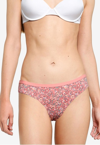 Hollister pink Gilly Hicks Print Cheeky Panties 1F3B7USEF0D4EAGS_1