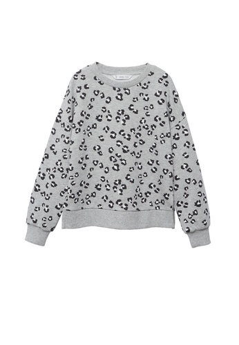 MANGO KIDS grey Printed Cotton Sweatshirt 4DBABKAD32481BGS_1