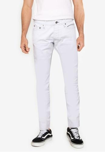 Desigual white Light Washed Slim Jeans 18312AA8B2C896GS_1