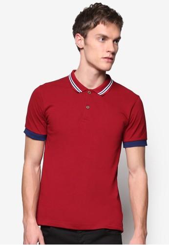對比色條紋領 POLO 衫, 服飾zalora是哪裡的牌子, Polo衫