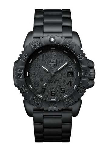 Luminox black Luminox Navy Seal Steel Colormark Blackout Stainless Steel Watch 68C6FACDA7CC6FGS_1